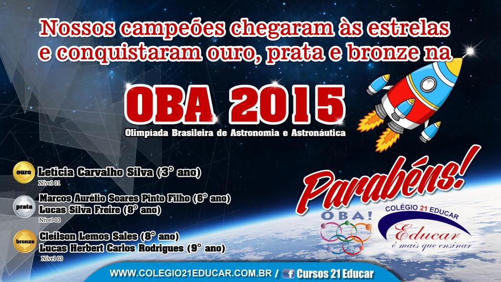 RESULTADO OBA 2015